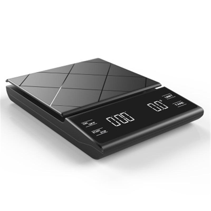 موازين القهوة الذكية مع الموقت موازين المطبخ الإلكترونية الدقة جداول الغذاء المنزلية مقياس الوزن مقياس المحمولة 3 كجم/0.1g