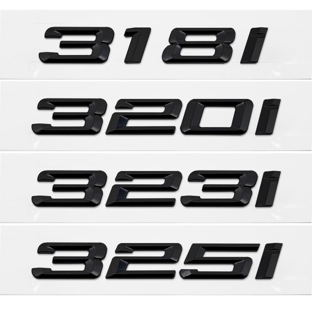 Metal Car Styling Auto 3D Letter Rear Trunk Sticker Emblem Decal Decoration for BMW 3 Series 318i 320i 323i 325i M3 E32 E34 E36