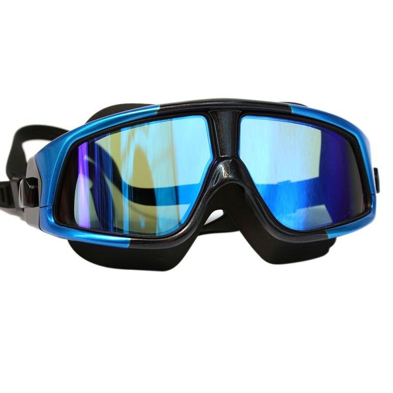 Очки для плавания, силиконовые большие очки для плавания, плавательные очки, водонепроницаемые противотуманные УФ-очки с чехлом
