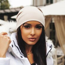 Unisex Women Men Knit Winter Warm Ski Crochet Slouch Hat Cap Beanie Oversize Casual Fedoras Solid Co