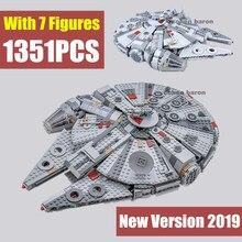 Nuevo Skywalker Starship el despertar de la fuerza Falcon Fit figuras de Star Wars bloques de construcción 75257 79211 05007 regalo chico Juguetes