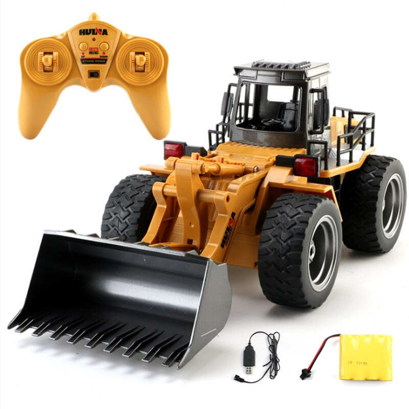 1:18 RC Car Engineering Car Toys For Kids 6Way Remote Bulldozer Children Electric Car Toys Radio Controlled Car Automotive GoodS enlarge