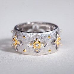Женское Винтажное кольцо CMajor, с отверстиями, из серебра 925 пробы, с четырехлистным клевером