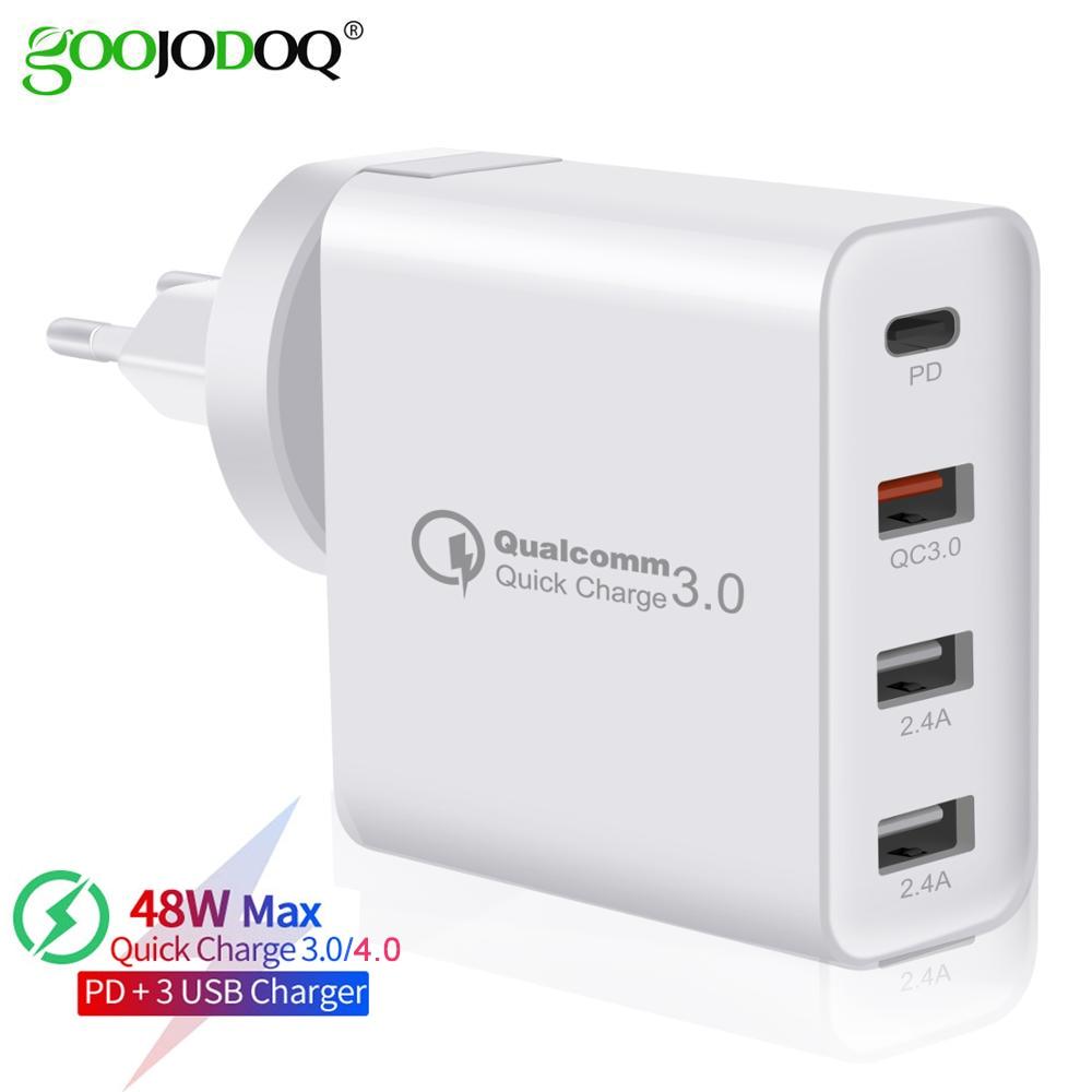GOOJODOQ PD зарядное устройство 48 Вт USB быстрое зарядное устройство QC3.0 настенное зарядное устройство для iphone 11 XS Max Pro Apple iPad для Samsung Huawei Xiaomi Tablet