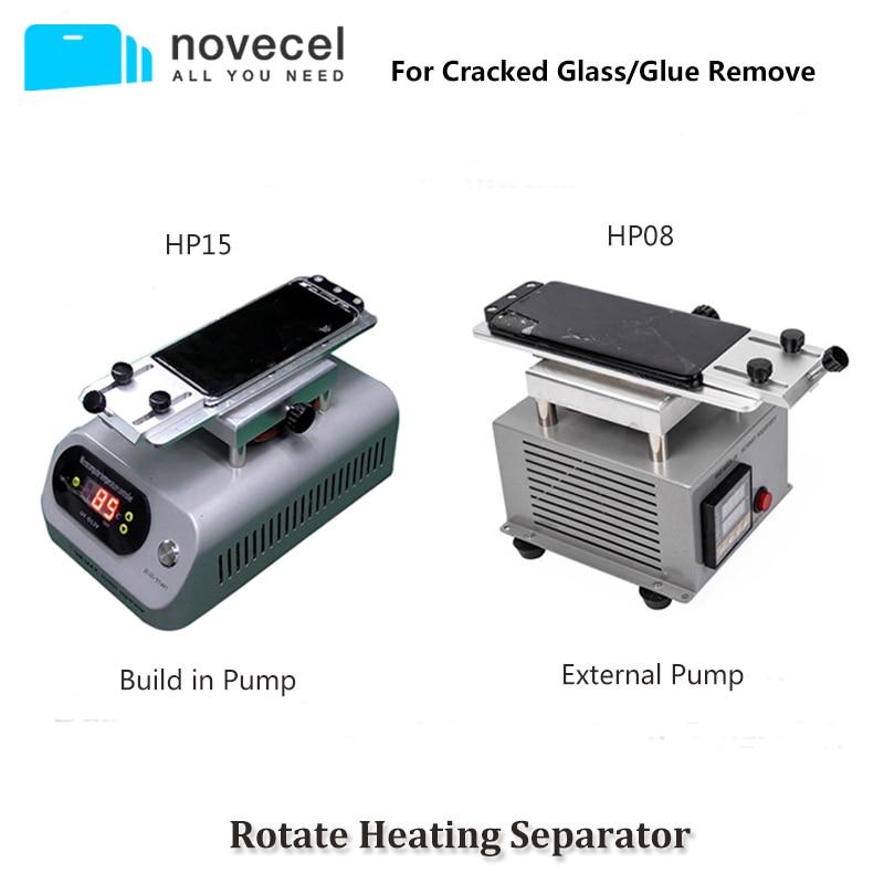 Novecel-فاصل دوار لشاشة LCD لفصل الزجاج وإزالة الغراء ، آلة فصل التدفئة العالمية
