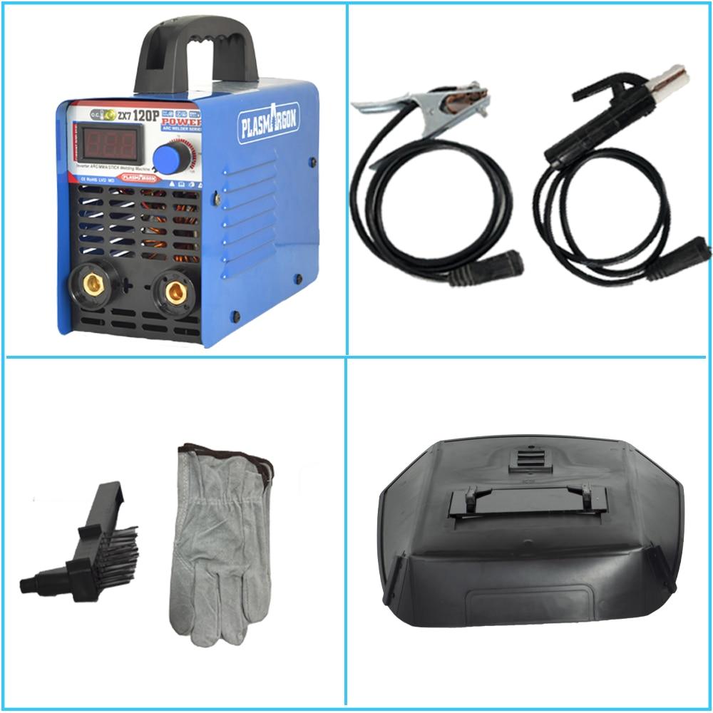 ZX7-120P 220V Mini Portable Electric Welding Machine Digital Display IGBT DC Inverter ARC MMA Stick Welder enlarge