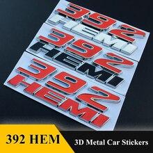 392 HEMI 3D Metall Auto Aufkleber Emblem Abzeichen Auto Styling Zubehör für Chrysler 300C 300 Dodge Challenger Ladegerät Jeep Wrangler
