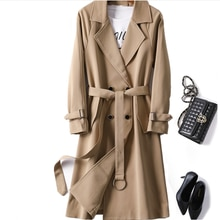 Trench Coat Female Long Section 2020 Spring And Autumn New Temperament Double-Breasted Coat Female H