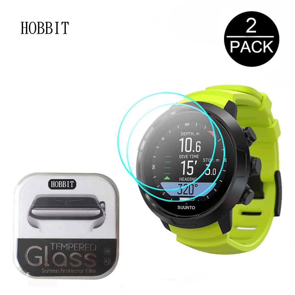 2 peças para suunto d5 dx d4f d6i d4i novo smartwatch 2.5d 9 h claro protetor de tela de vidro temperado para suunto d5 anti-risco de vidro