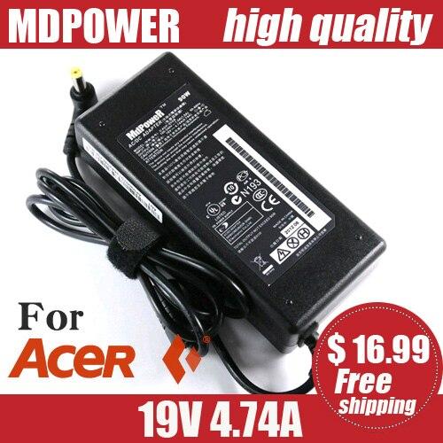 Cable de alimentación MDPOWER para ordenador portátil ACER Aspire Timeline 3810T 4810T...