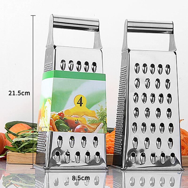 Kitchen Stainless Steel 6-Sided Box Grater Vegetable Cheese Slicer Shredder Household Kitchen Food Processors Multi-functional