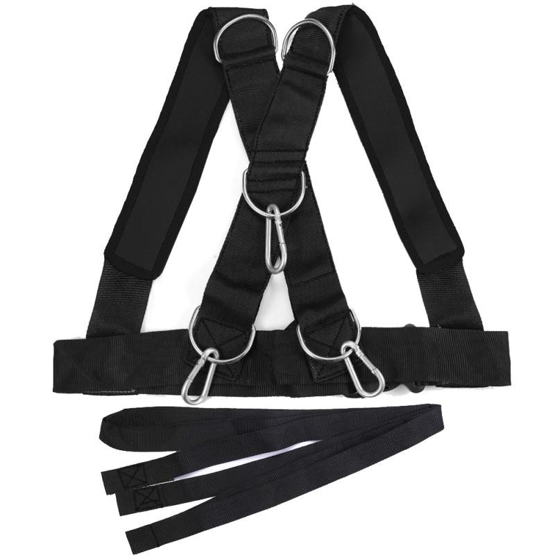Machine dexercice de harnais en nylon dexercice de résistance de ceinture de musculation dépaule légère et pratique de traîneau