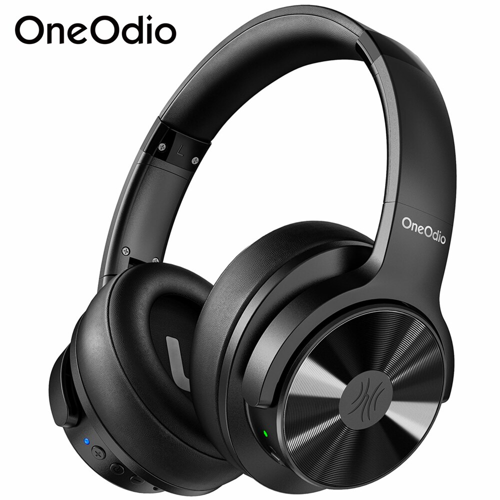 Oneodio A30 ANC سماعة رأس بمايكروفون لاسلكي CVC8.0 نشط إلغاء الضوضاء بلوتوث-متوافق سماعة HiFi ستيريو
