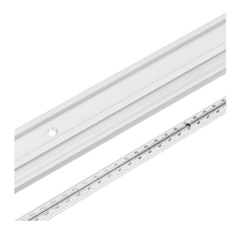 Machifit 600/800mm com escala t-track t-entalhe de fixação do gabarito da trilha da mitra do t-entalhe para a tabela TP-0149 do roteador
