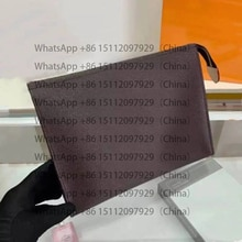 Top Quality Luxury Brand Design New Women's Fashion Toiletry Pouch 27cm Business Clutch Wallet Lady
