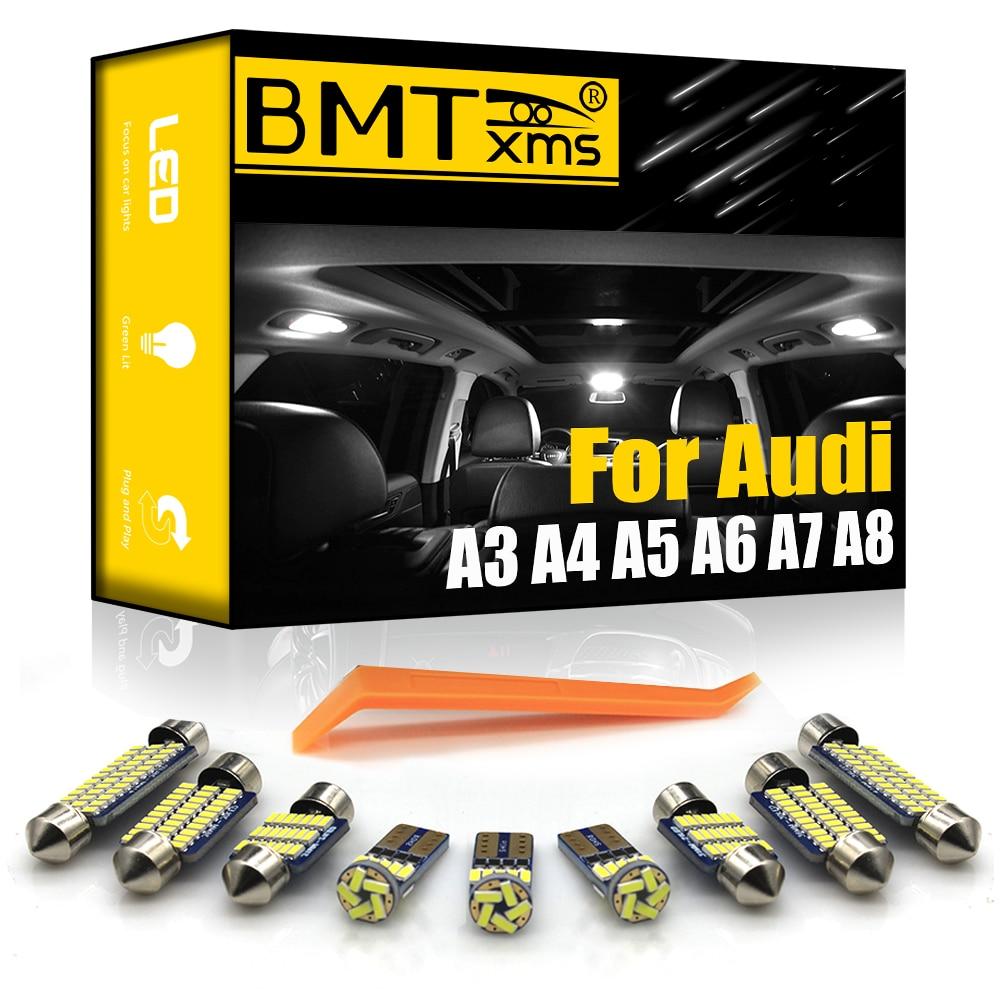 Комплект подсветильник для салона автомобиля BMTxms светодиодный для Audi A3, 8L, 8 в, 8P, A4, B5, B6, B7, B8, A5, A6, C5, C6, C7, A7, A8, D2, D3