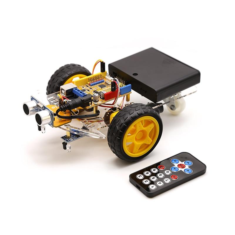 الذكية روبوت موتور سيارة عدة تجنب تتبع 2WD ، بالموجات فوق الصوتية ، الأشعة تحت الحمراء عن بعد ، لاردوينو لتقوم بها بنفسك عدة ، الروبوتات التعلم