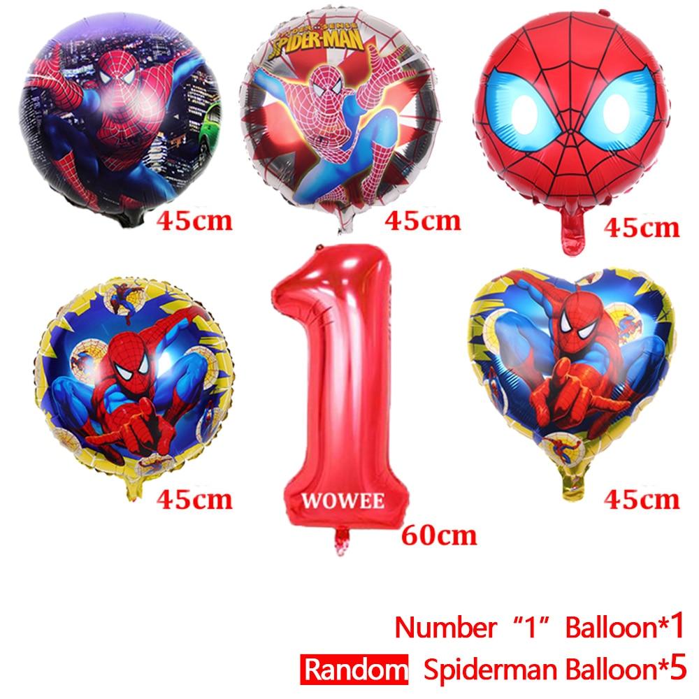 Spiderman Helium Foil Balloons Latex ball Air Globos Superhero Spider man Birthday Party Decoration boys kids toy Ballon Baloon