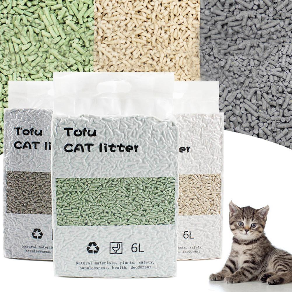 6L Tofu Cat Litter Degradable Clumping Flushable Absorbent Plant Pet Supplies 2020