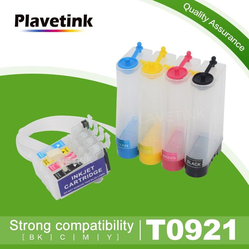 Plavetink T0921 Continue Inkttoevoer Systeem Ciss Voor Epson Stylus T26 T27 TX106 TX109 TX117 TX119 C51 C91 CX4300 Printer