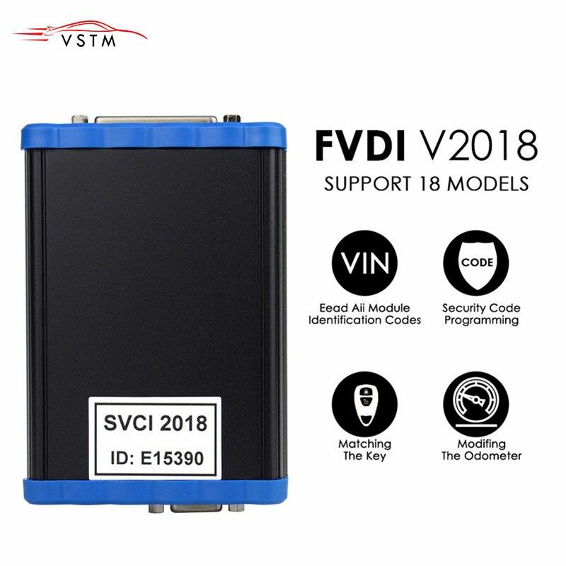 Programador de teclas SVCI 2018 FVDI 2018 OBD2 todas las funciones de VVDI2 V2015 V2014 tecla de corrección de odómetro ilimitado/programador ECU