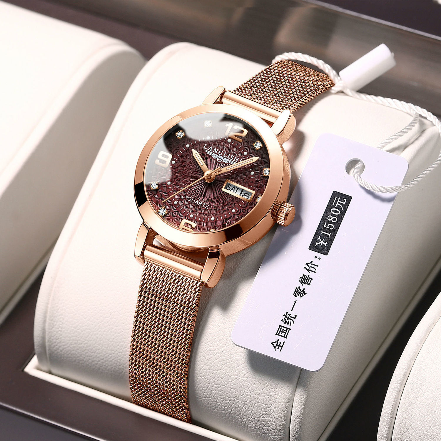 LANGLISHI 2021 Rose Gold Watch Women Watches Ladies Women's Bracelet Gift Lover Watches Female Water