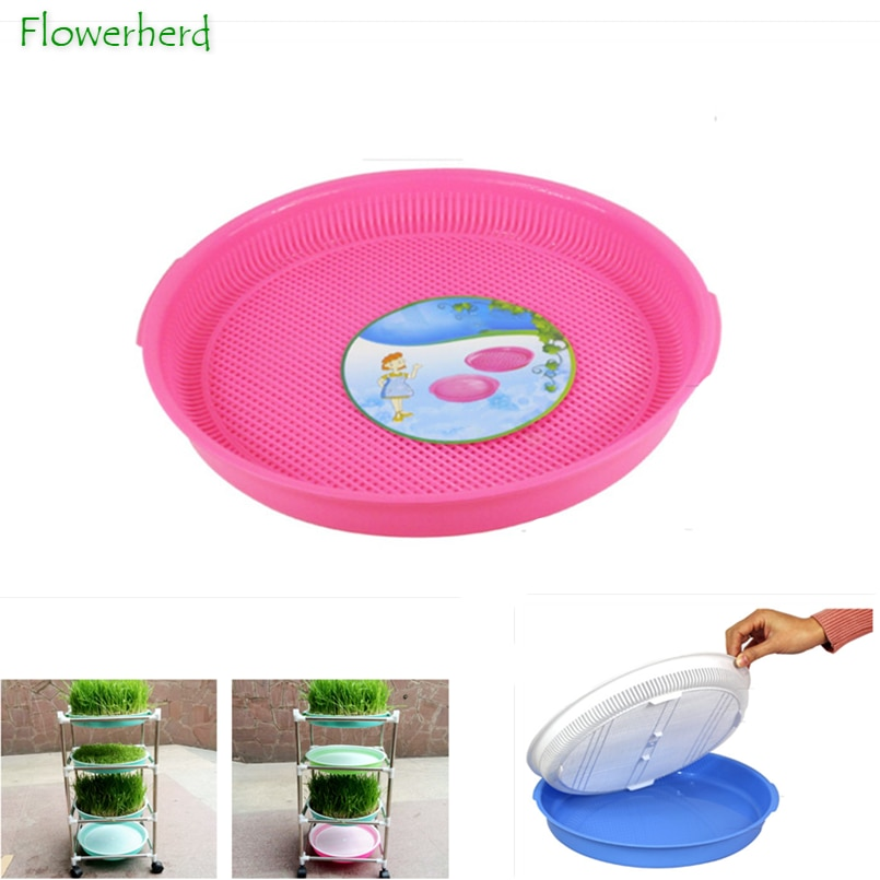 Double-layer Bean Sprouts Round Dishes Plate Hydroponics Seedling Tray Plastic Flower Basket Plant Home Garden Nursery Pots