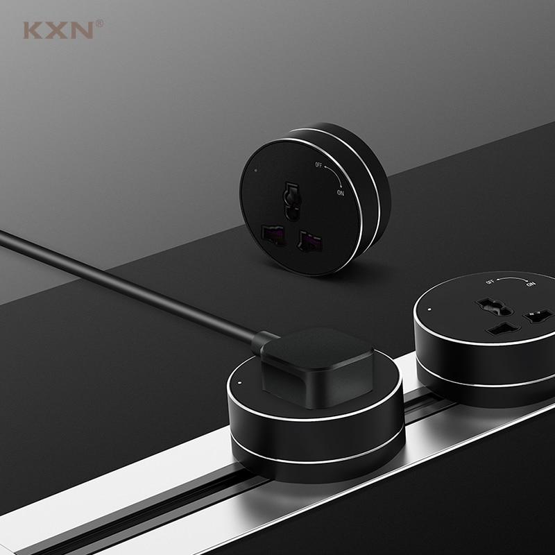 KXN الكهربائية سطح أخفى P1 سلسلة مع التبديل السلطة المسار المقبس الجدار تمديد منافذ الاتحاد الأوروبي المملكة المتحدة الولايات المتحدة محولات ...