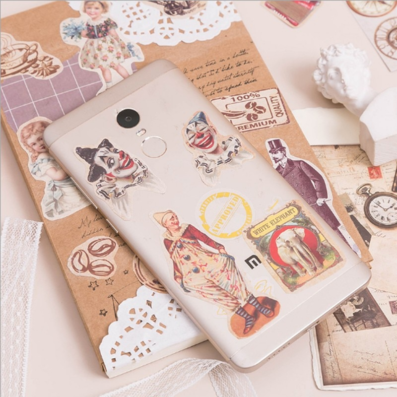 free shipping 200pcs/pack Brand New High Quality Retro small stickers hand ledger decoration stickers mobile phone decoration