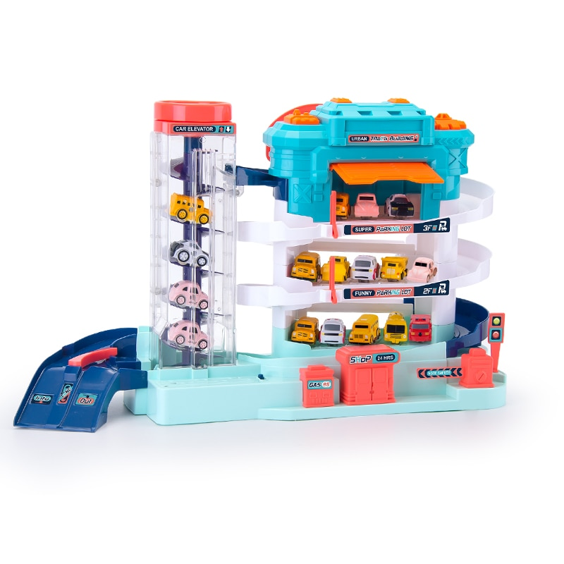 Racing Rail Car Train Track Toys for Kids Gifts Mechanical Adventure Brain Table Game Electric Track Car Parking Building Toy