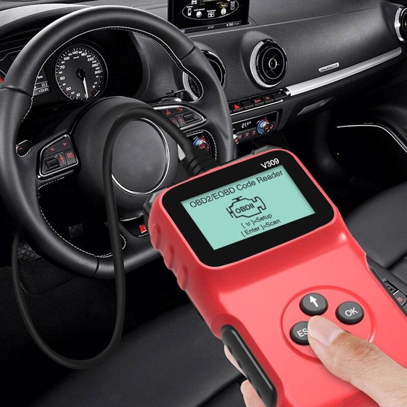 Автомобильный диагностический сканер V309 OBD2 считыватель кодов автомобильный диагностический сканер многоязычный автомобильный детектор н...