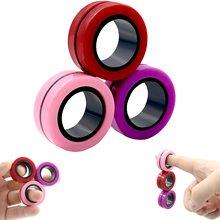 Anelli magnetici antistress Fidget Unzip Toy Magic RingTools bambini anello magnetico Finger Spinner Ring giocattoli per decompressione per adulti