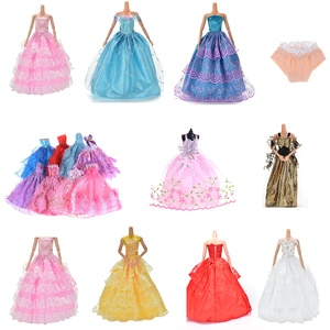 1PC Elegant Doll Dresses Lady Little Dress Evening Dress Clothes Underwear and shoes For Dolls Gift Doll Accessories Newst