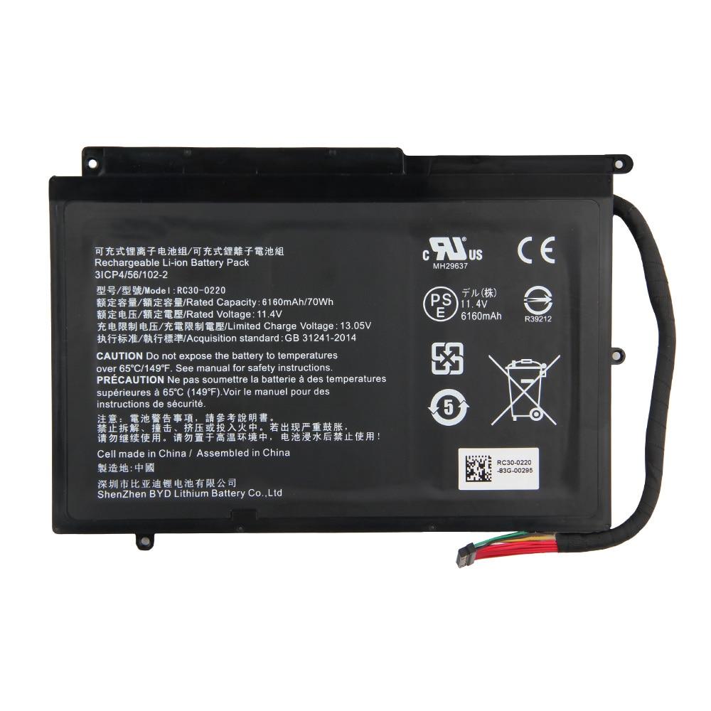 Original Replacement Laptop Battery 6160mAh RC30-0220 RZ09-0220 For Razer Blade Pro 17