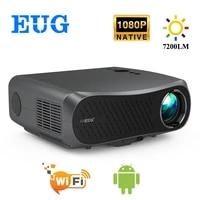 900DAB Full HD 1920x1080P Projecteur 7200 Lumens Cinema LED LCD Projecteur Android WiFi Bluetooth HD EN Home Cinema 3D Beamer
