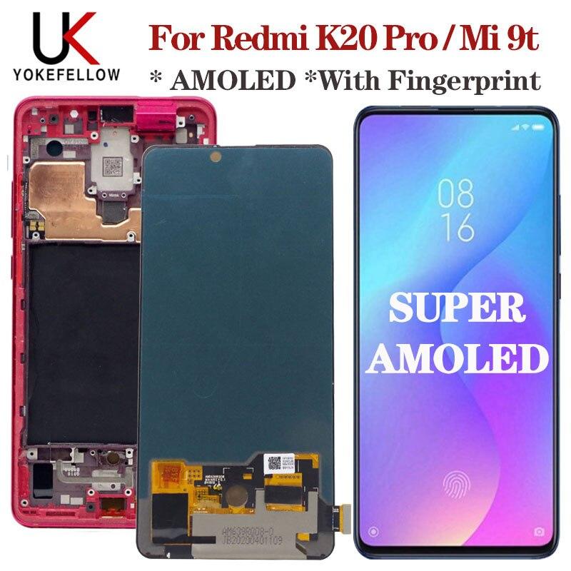 """Original AMOLED 6,39 """"para Xiaomi Mi 9t pantalla LCD de montaje de digitalizador con pantalla táctil LCD reemplazar Redmi K20 Pro lcd mi 9t Pro lcd"""