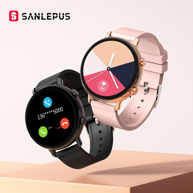 SANLEPUS-reloj inteligente para hombre y mujer, pulsera con llamadas, Bluetooth, ECG, resistente al agua, Monitor de ritmo cardíaco, para Android, Samsung, SW33, nuevo de 2021