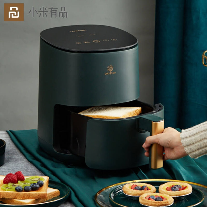 Review Hot Youpin LIVEN Air Fryer2.5L 1400W/220V Smart Electric Deep Fryer No Oil Free Health Oven Timer Temperature Control Power Home