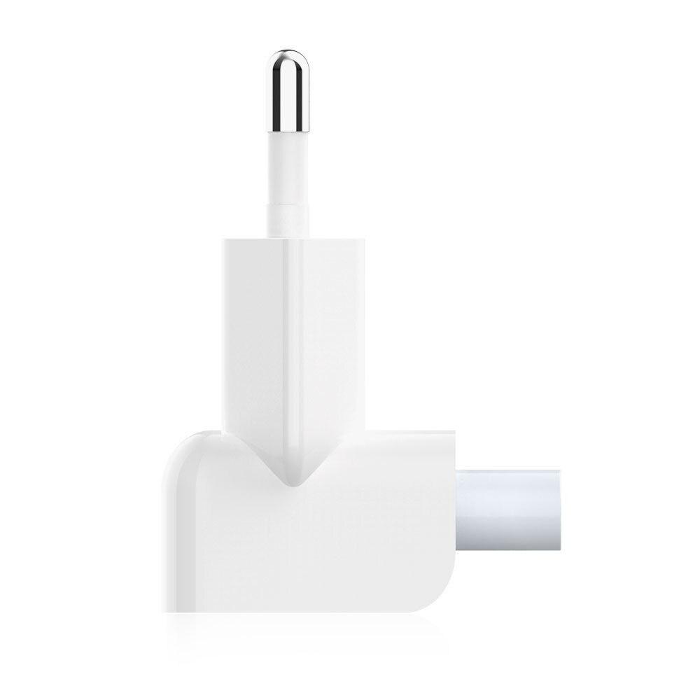 Enchufe europeo AC Duck Head para iPad Air Pro MacBook juego de cargador para MagSafe 2 adaptador de corriente de carga de pared Enchufe europeo Pin