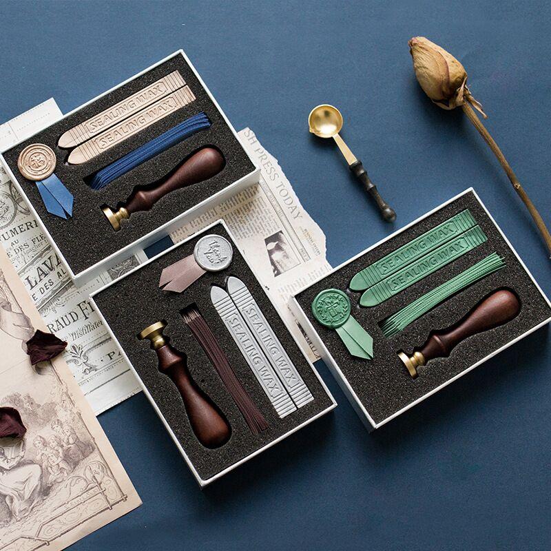 Sharkbang Creative DIY Manual Ribbon Varnish Seal Wax Set Envelope Seal Gift Decorative Seal Kawaii Stationery