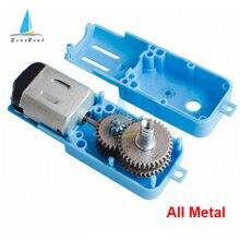 C 3V-6V 190 moteur à engrenages en métal moteur à engrenages cc à axe unique pour Robot réducteur de vitesse de véhicule Intelligent 110 tr/min tout métal/demi-métal