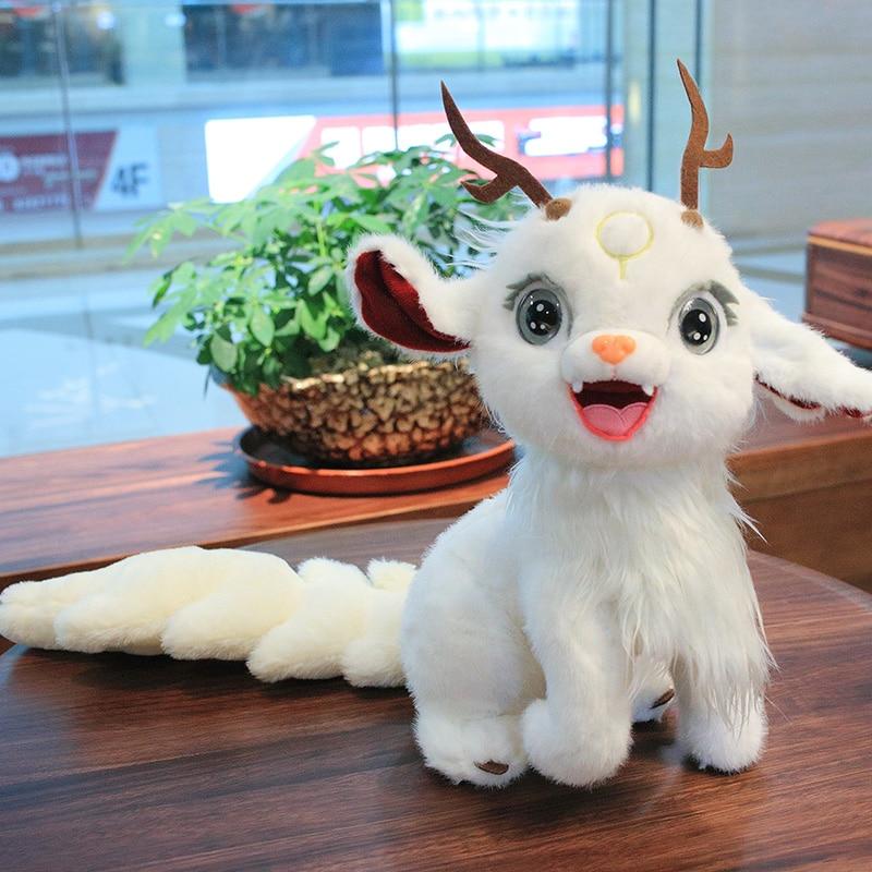 2020 New Cartoon Deer Plush Toy Stuffed Animal 35cm Kawaii Alpaca Doll Birthday Gift For Children