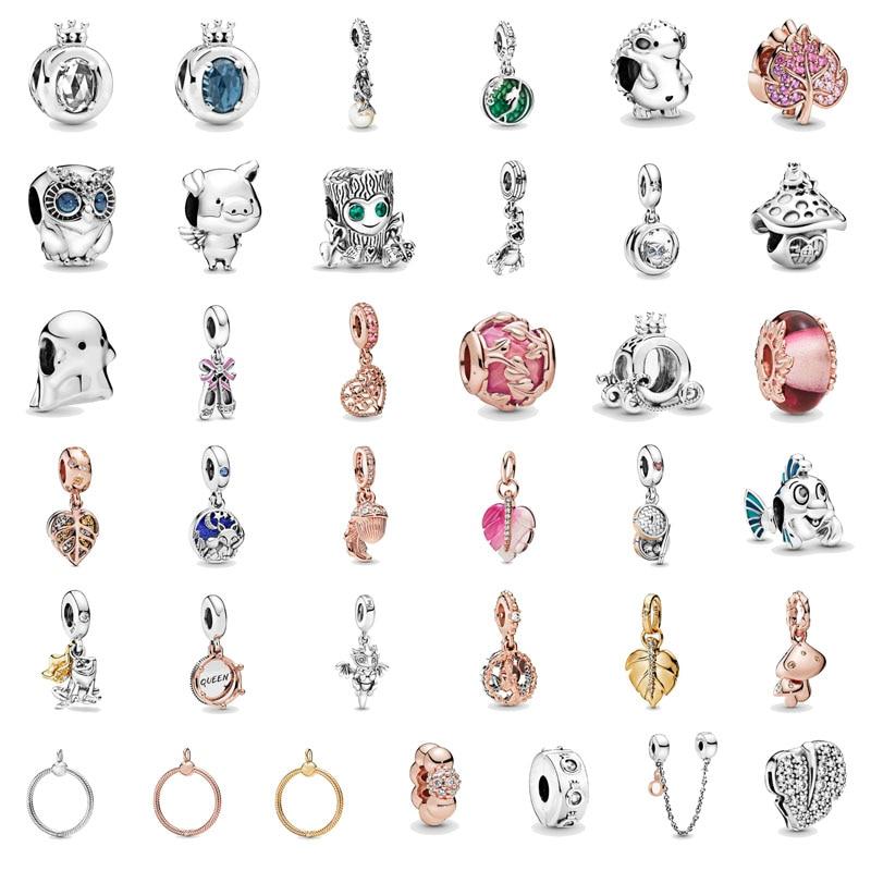 2019 Herbst Neue Perle Hängenden Charme 925 Sterling Silber Fit Original Pandora Armband Armreif Halskette Frauen DIY Schmuck Geschenke