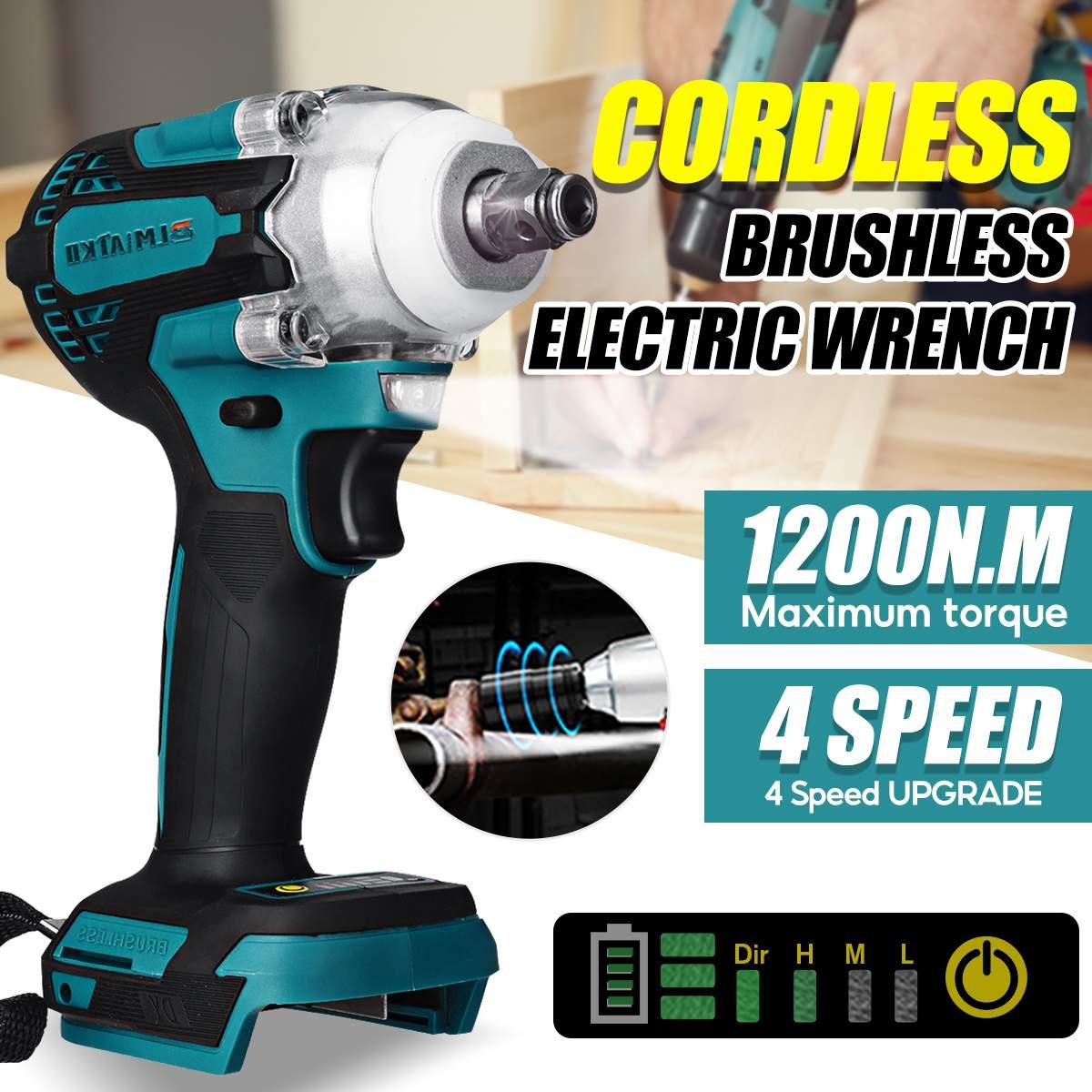 ترقية فرش اللاسلكي 4 سرعة مفتاح برغي كهربائي قابلة للشحن 1/2 بوصة وجع أدوات كهربائية للبطارية ماكيتا 18 فولت