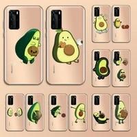 avocado cute cartoon fruit phone case transparent for huawei nove e 6 5 4 3 2 s i se pro lite high quality etui