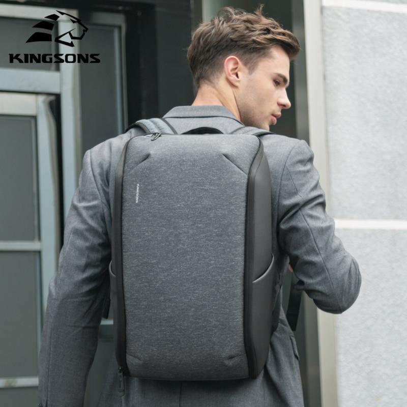 Kingsons-حقيبة ظهر للكمبيوتر المحمول متعددة الوظائف للرجال مقاس 15 بوصة ، حقيبة سفر مقاومة للماء ، مضادة للسرقة ، حقائب مدرسية