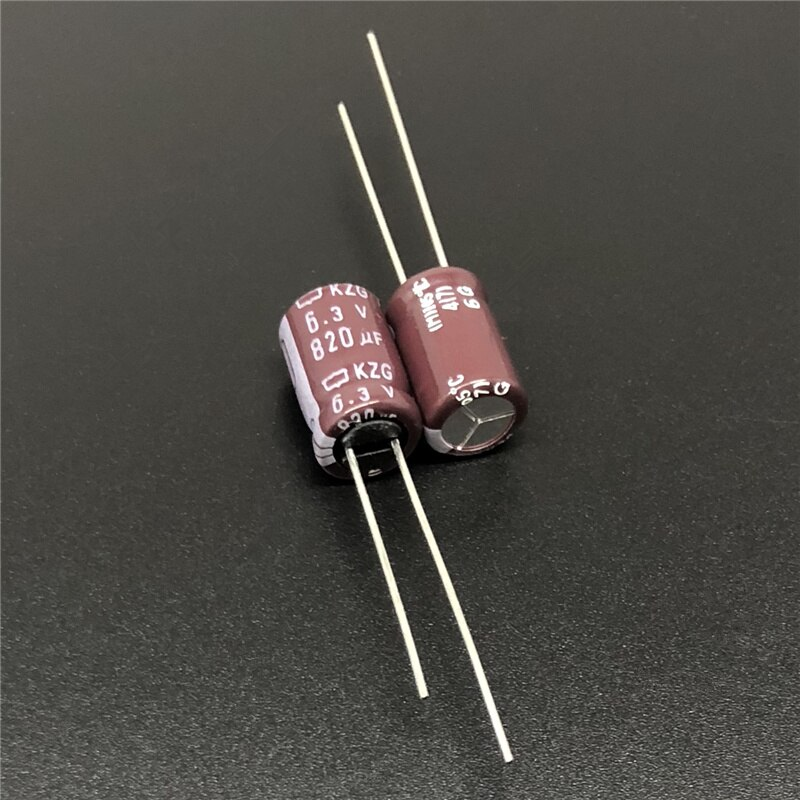 10 шт. 820 мкФ 6,3 V NCC KZG 8x12 мм супер низкий ESR 6.3V820uF материнская плата конденсатор