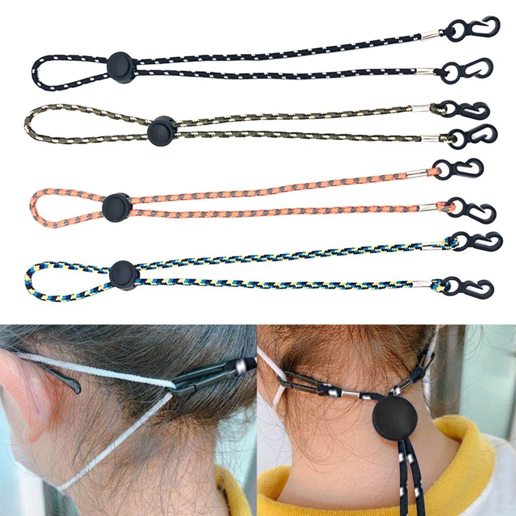 Cordón ajustable para mascarilla facial, 4 Uds., soporte práctico y práctico para mascarillas de seguridad y soporte para oreja, cordones para mascarillas con hebilla voluminosa # YL5