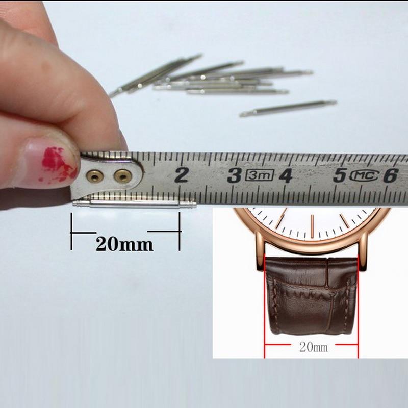 Купить с кэшбэком 1.5mm Wholesale  50pcs 16mm 18mm 20mm 22mm 24mm Watch Band Spring Bars Strap Link Pins Repair Watchmaker Link Pins  Top Quality