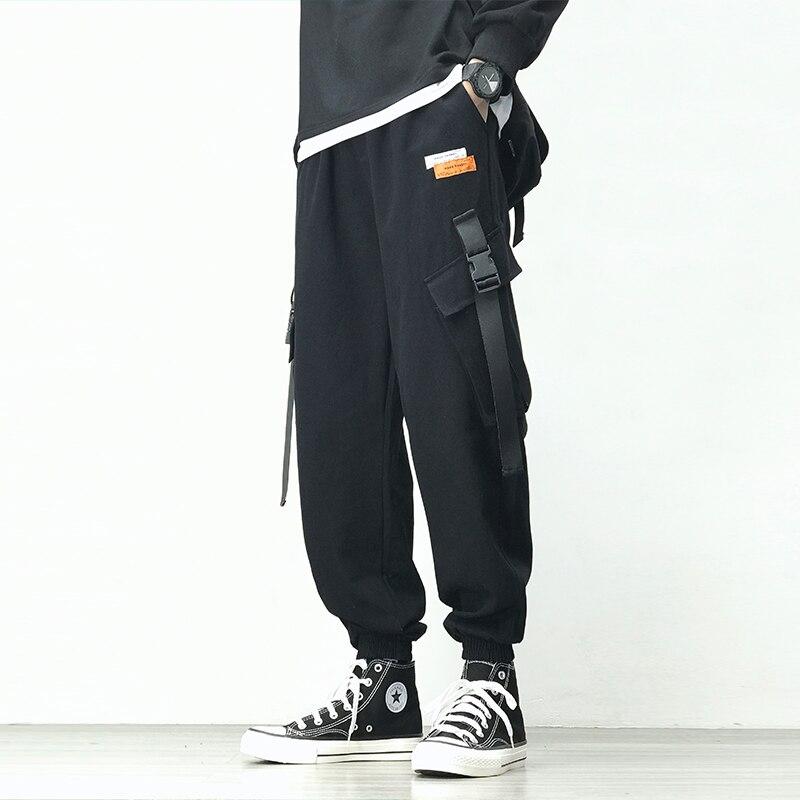Pantalones Cargo 2020 para hombre, pantalones multibolsillos para hombre, pantalones Harem de cintura elástica, pantalones casuales sueltos hasta el tobillo para hombre Hip Hop